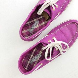 Sperry's Slide-On Canvas Loafer Boat Shoe